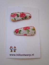 Haarknipje retro roze bloemetje