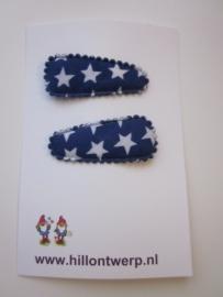 Haarknipje blauwe sterren