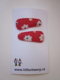 Haarknipje bloementje rood