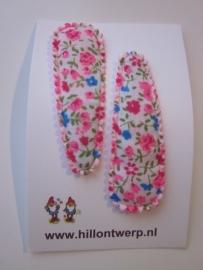 Haarknipje roze bloemetje