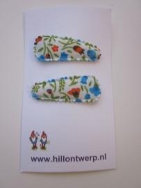 Haarknipje klein blauw bloemetje