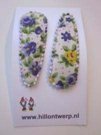 Haarknipje paars bloemetje