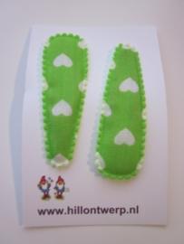 Haarknipje harten groen
