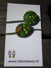 haarelastiekjes retro groen