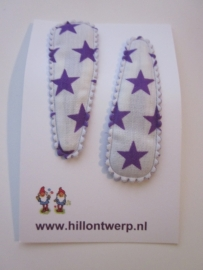 Haarknipjes sterren paars