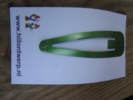 Grote metallic groen knipje