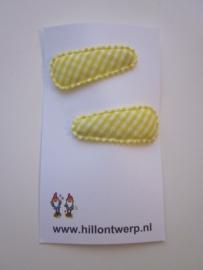Haarknipje geel ruitje
