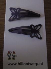 Paarse vlinderknipjes