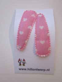 Haarknipje harten roze