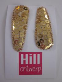 Gouden knipjes met pailletjes