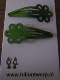 Groene bloemknipjes