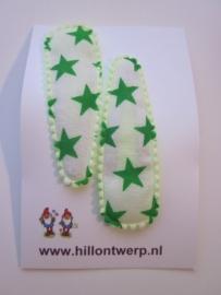 Haarknipjes sterren groen