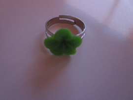 Ringetje met groen bloemetje