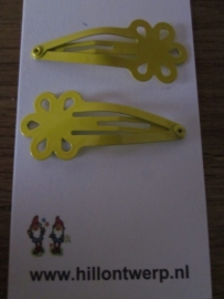Gele bloemknipjes