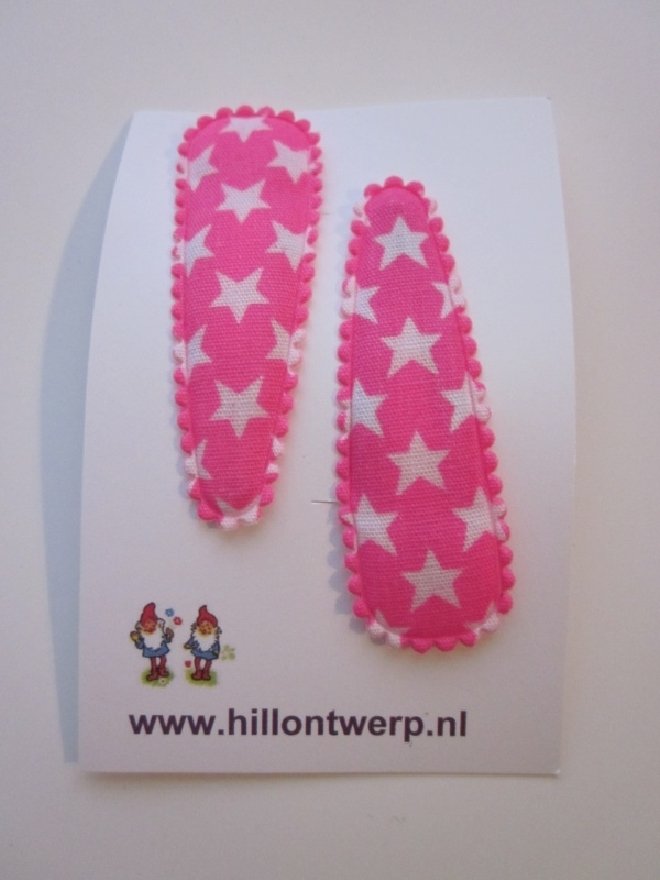 Haarknipje fel roze sterren
