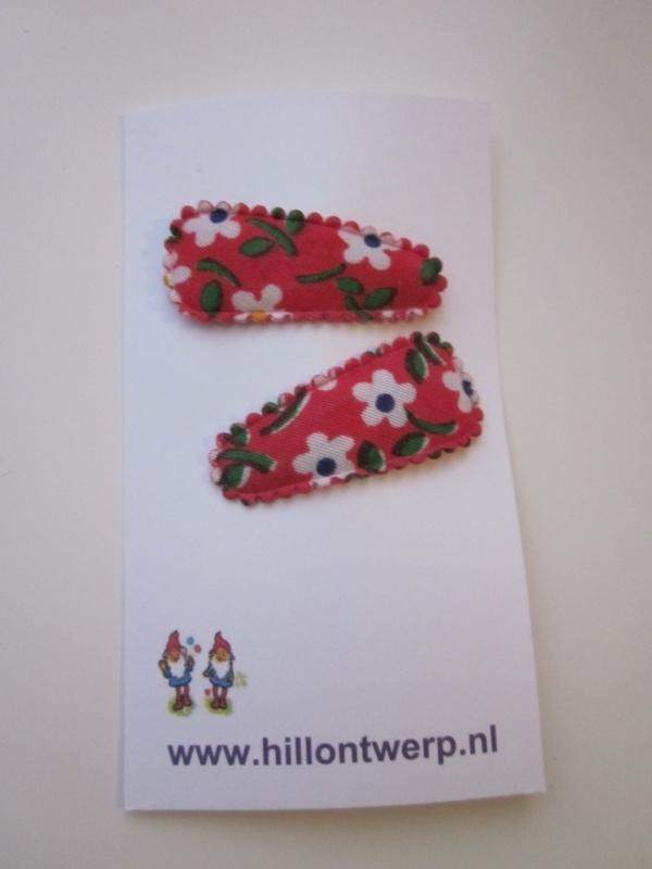 Haarknipje rood bloemetje