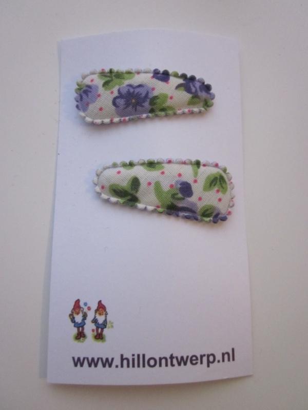 Haarknipje retro paars bloemetje