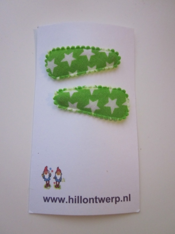 Haarknipje groene sterren