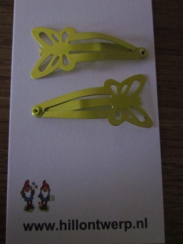 Gele vlinderknipjes