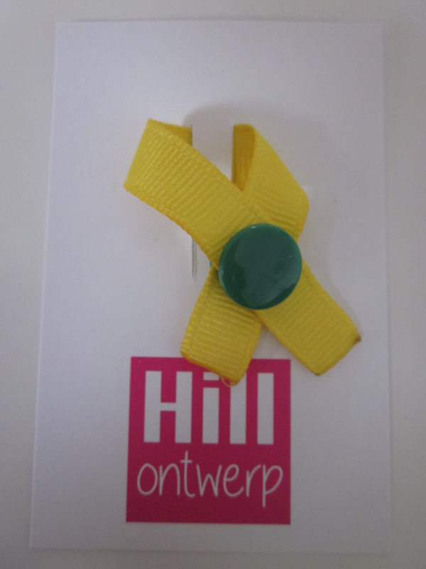 geel met groene ronde drukker