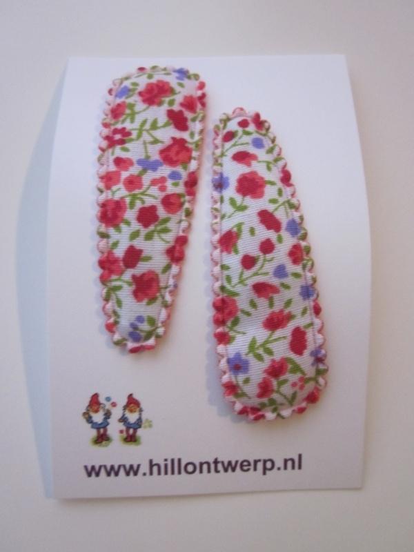 Haarknipjes rood bloemetje