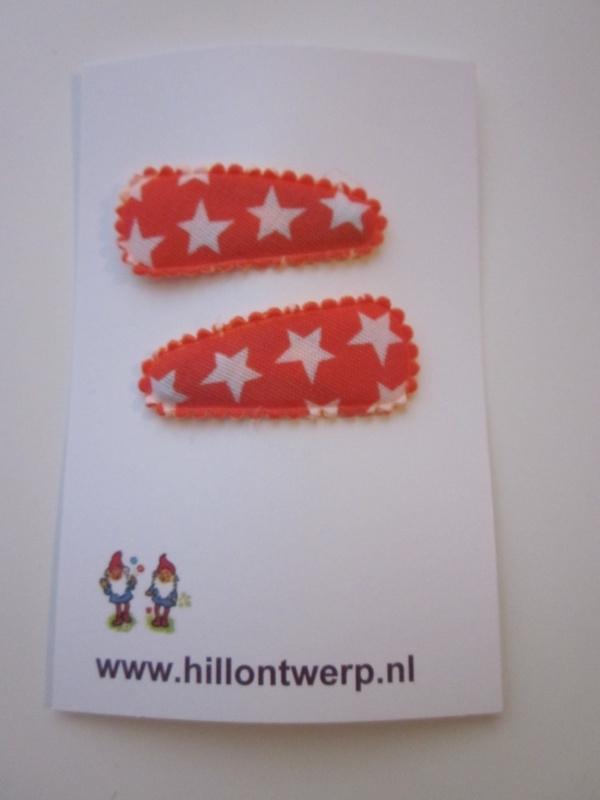 Haarknipje oranje strerren