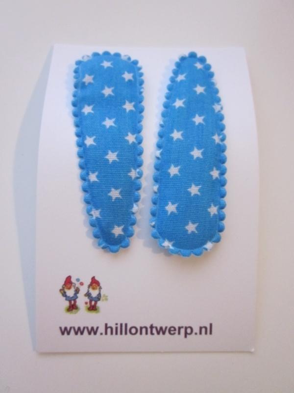 Haarknipje sterren klein turkoois