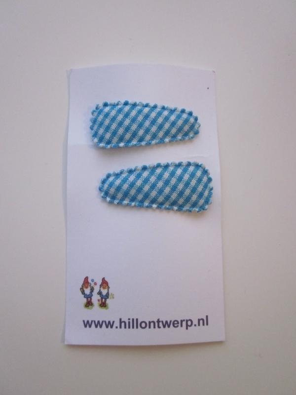 Haarknipje blauw ruitje
