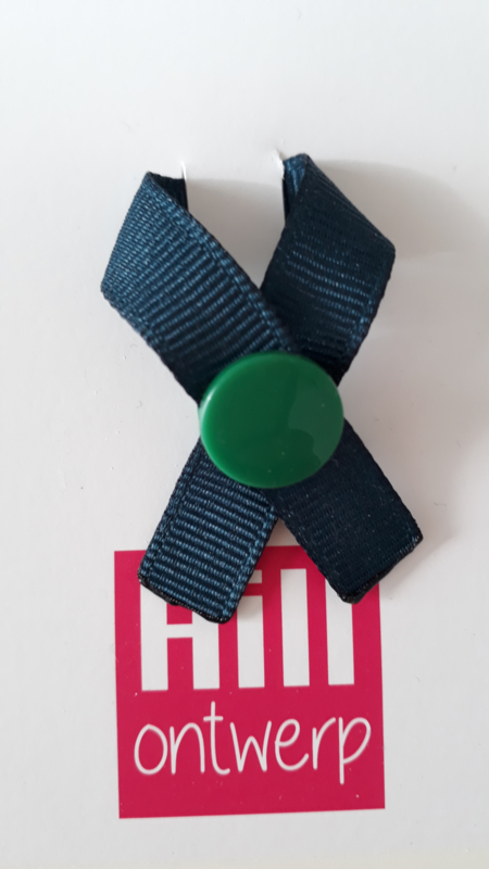 Donker blauw met groene ronde drukker