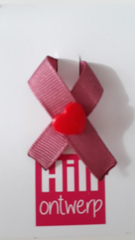 Oud roze met rode harte drukker