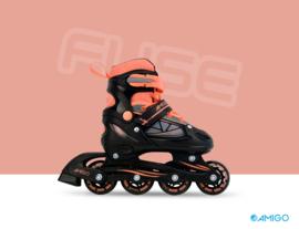 """Inline skates """"Fuse"""" zwart/oranje"""