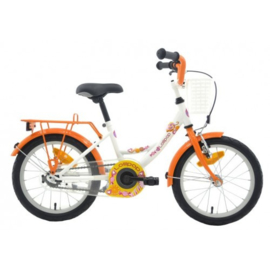 "Meisjesfiets 16"" BFK ""LolliPop"" wit/orange"