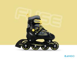 """Inline skates """"Fuse"""" zwart/geel"""