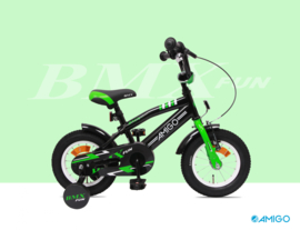 "Jongensfiets Amigo ""BMX Fun"" black & green"