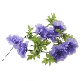 "Fietsdecoratie ""Bloemenstreng"" Peony lavendell"