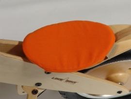 Oranje katoenen zadeldekje