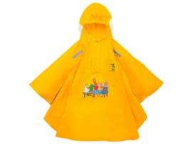 """Regen Poncho """"Kikker & zijn vriendjes"""" geel"""