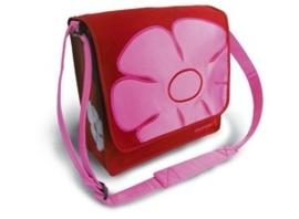 "Basil ""Jasmin messengerbag"" rood-roze"