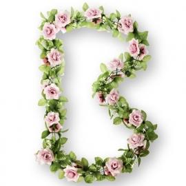 """Fietsdecoratie """"Bloemenstreng"""" roze rozen"""