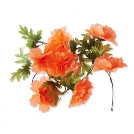 """Fietsdecoratie """"Bloemenstreng"""" Peony tangerine"""