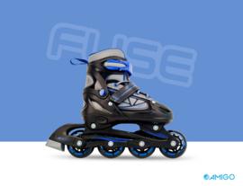 """Inline skates """"Fuse"""" zwart/blauw"""