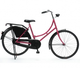 """Tiener-fiets 26"""" Burgers """"Oma"""" roze/zwart"""