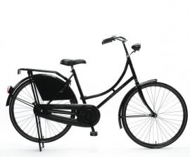 """Tiener-fiets 26"""" Burgers """"Oma"""" zwart"""