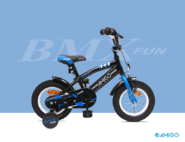 "Jongensfiets Amigo ""BMX Fun"" black & Blue"