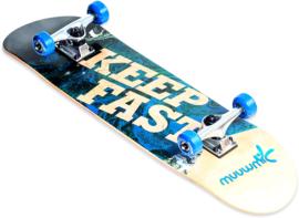 """Houten Skateboard """"Keep Fast"""""""