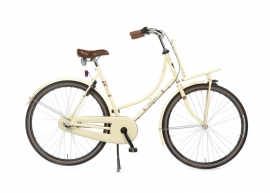 "Dames-fiets 28""  Burgers ""PickUp"" N3 creme/zwart 53cm"
