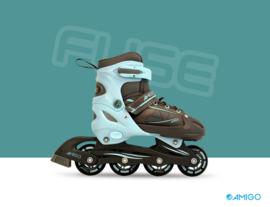 """Inline skates """"Fuse"""" blauw/zwart"""