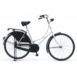 """Tiener-fiets 26"""" Burgers """"Oma"""" wit/zwart"""