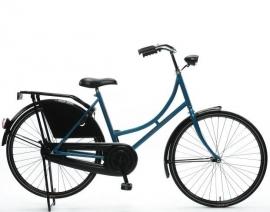 """Tiener-fiets 26"""" Burgers """"Oma"""" azur/zwart"""