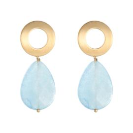 Happy drops oorbellen blauw